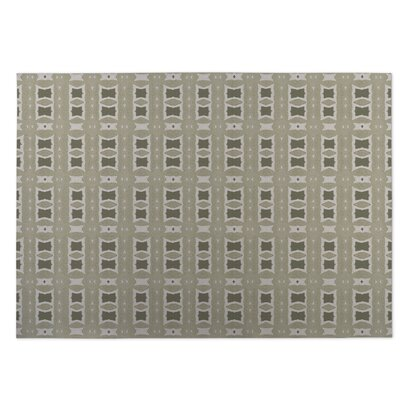 Crossroads Beige Indoor/Outdoor Doormat Rug Size: 4 x 5