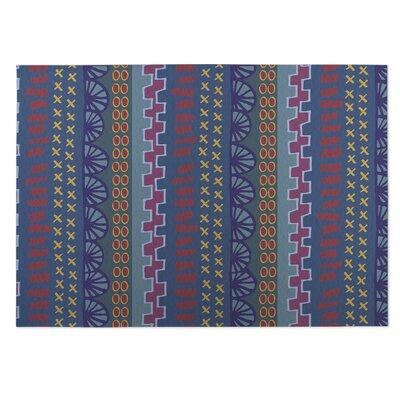 Village Road Blue Indoor/Outdoor Doormat Rug Size: 8 x 10