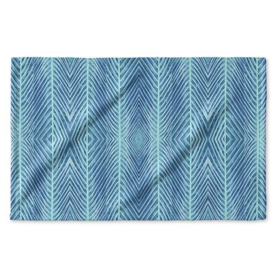 Palms Hand Towel Color: Blue