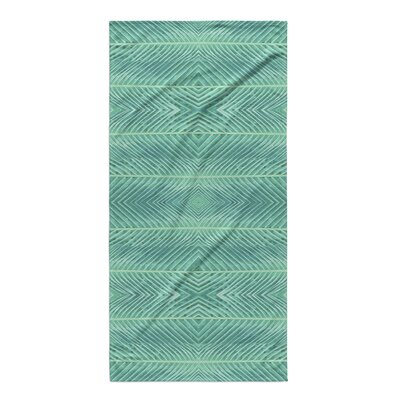 Palms Bath Towel Color: Green