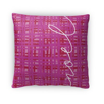 Noel Fleece Throw Pillow Size: 16 H x 16 W x 4 D