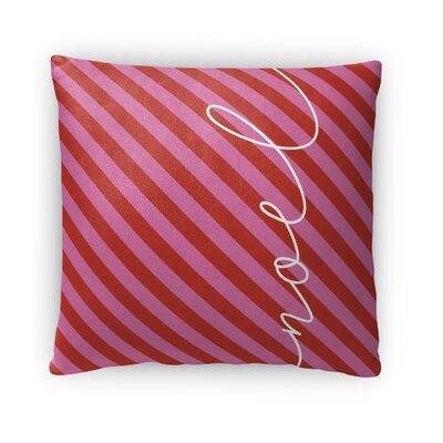 Noel Fleece Throw Pillow Size: 18 H x 18 W x 4 D