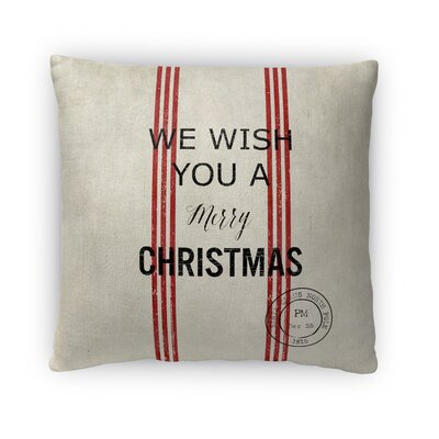 Wish You a Merry Christmas Fleece Throw Pillow Size: 16 H x 16 W x 4 D
