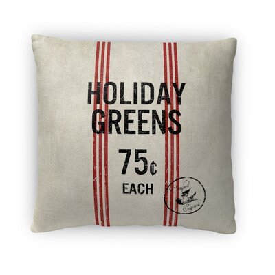 Holiday Greens Fleece Throw Pillow Size: 18 H x 18 W x 4 D