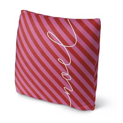 Noel Throw Pillow Size: 16 H x 16 W x 4 D