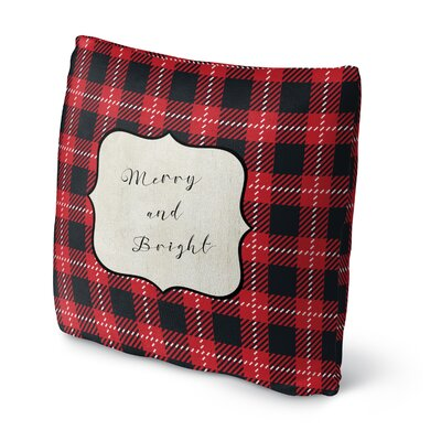 Merry and Bright Throw Pillow Size: 18 H x 18 W x 4 D