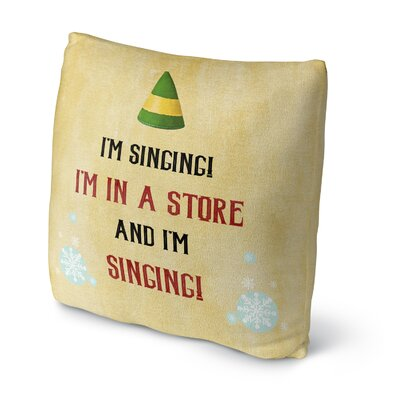 I M Singing Throw Pillow Size: 16 H x 16 W x 4 D