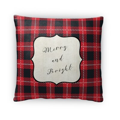 Merry and Bright Fleece Throw Pillow Size: 16 H x 16 W x 4 D