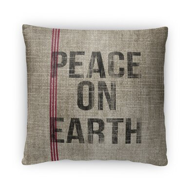 Peace On Earth Fleece Throw Pillow Size: 18 H x 18 W x 4 D