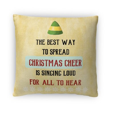 Christmas Cheer Fleece Throw Pillow Size: 16 H x 16 W x 4 D