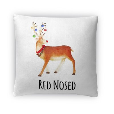 Red Nosed Fleece Throw Pillow Size: 18