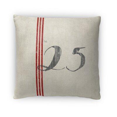 25 Fleece Throw Pillow Size: 16 H x 16 W x 4 D