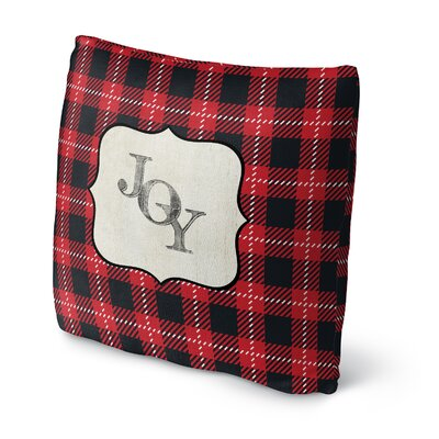 Joy Throw Pillow Size: 16 H x 16 W x 4 D