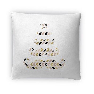 Christmas Tree Fleece Throw Pillow Size: 18 H x 18 W x 4 D