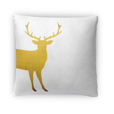 Lone Deer Fleece Throw Pillow Size: 18 H x 18 W x 4 D
