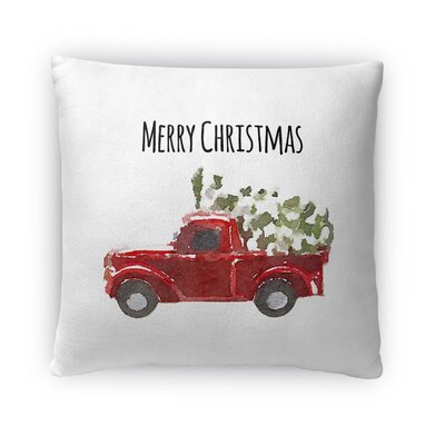 Christmas Truck Fleece Throw Pillow Size: 16 H x 16 W x 4 D
