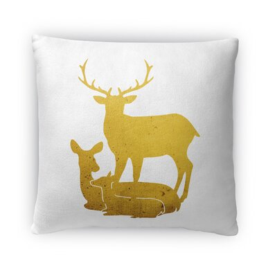 Deer Family Fleece Throw Pillow Size: 16 H x 16 W x 4 D