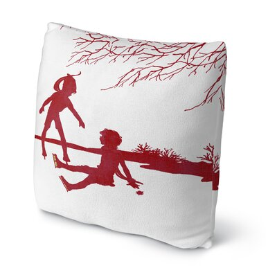 Skate Throw Pillow Size: 18
