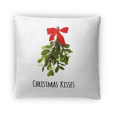 Christmas Kisses Fleece Throw Pillow Size: 18