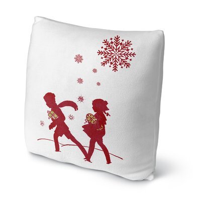 Bringing the Gifts Throw Pillow Size: 16 H x 16 W x 4 D