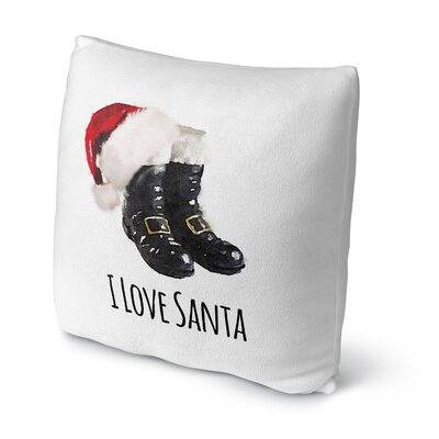 I Love Santa Throw Pillow Size: 18 H x 18 W x 4 D