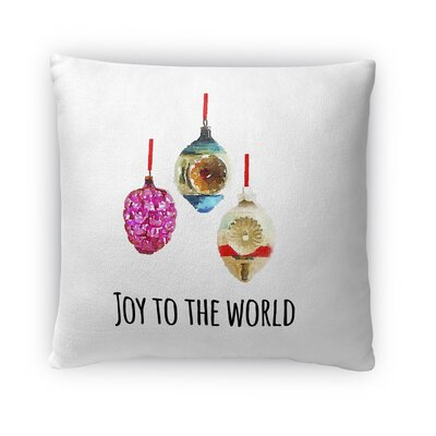 Joy to the World Fleece Throw Pillow Size: 16 H x 16 W x 4 D