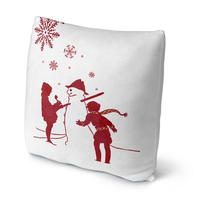 Lets Build a Snowman Throw Pillow Size: 18 H x 18 W x 4 D
