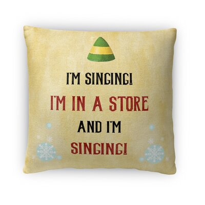 I M Singing Fleece Throw Pillow Size: 18 H x 18 W x 4 D