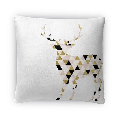 Christmas Deer Fleece Throw Pillow Size: 18 H x 18 W x 4 D