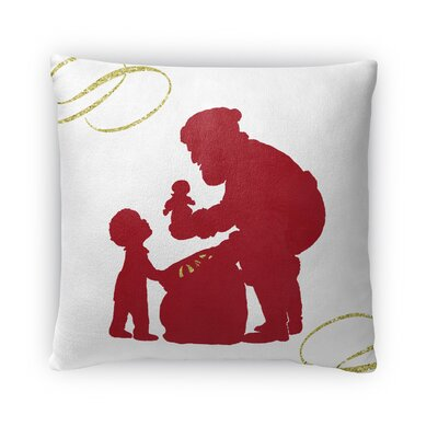 Santas Gift Fleece Throw Pillow Size: 16 H x 16 W x 4 D