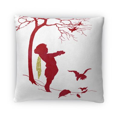 Feed the Birds Fleece Throw Pillow Size: 16 H x 16 W x 4 D