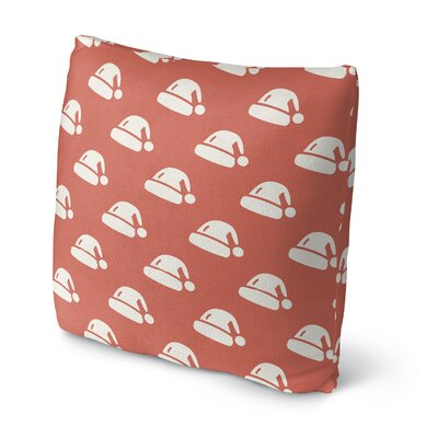 Santas Hat Throw Pillow Size: 18 H x 18 W x 4 D