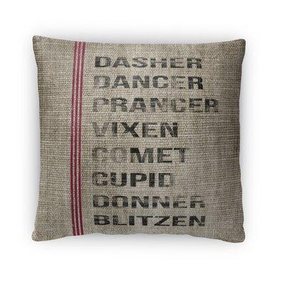 Reindeer Fleece Throw Pillow Size: 16 H x 16 W x 4 D