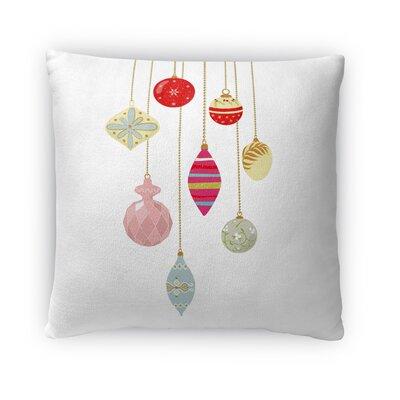 Jingle Bells Fleece Throw Pillow Size: 18