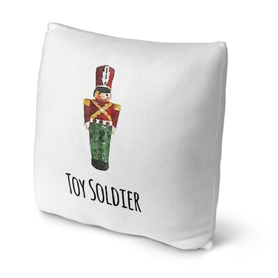 Toy Soldier Throw Pillow Size: 16 H x 16 W x 4 D