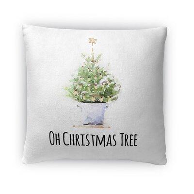 Oh Christmas Tree Fleece Throw Pillow Size: 16 H x 16 W x 4 D