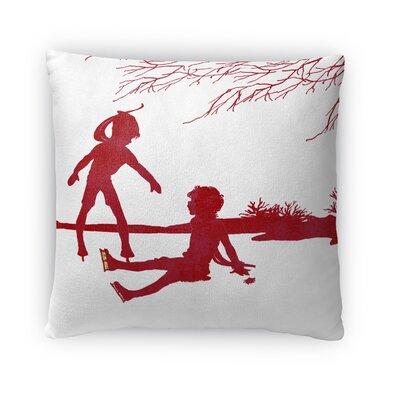 Skate Fleece Throw Pillow Size: 18 H x 18 W x 4 D