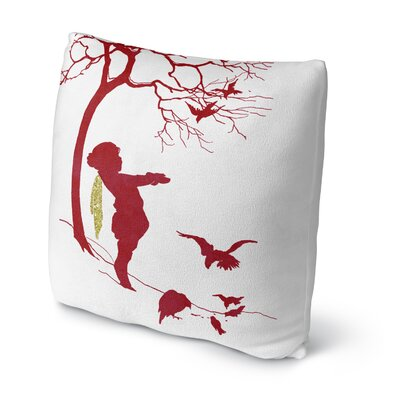 Feed the Birds Throw Pillow Size: 18 H x 18 W x 4 D