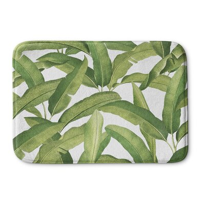 Banana Leaves Memory Foam Bath Rug Size: 24 H x 36 W x 0.75 D