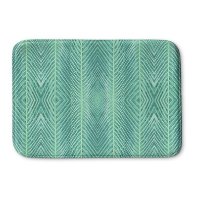 Palms Memory Foam Bath Rug Size: 24 H x 36 W x 0.75 D, Color: Green