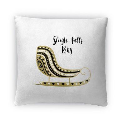 Sleigh Bells Ring Fleece Throw Pillow Size: 18 H x 18 W x 4 D