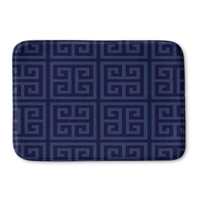 Greek Key Memory Foam Bath Rug Size: 24 H x 36 W x 0.75 D