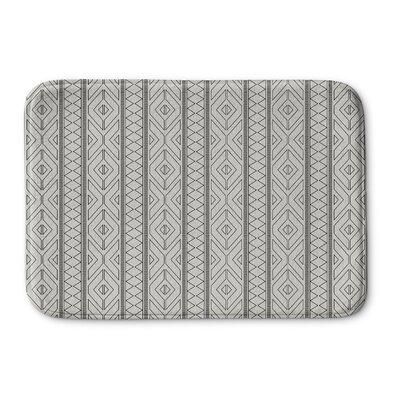 Rogers Memory Foam Bath Rug Size: 24 H x 36 W x 0.75 D, Color: Gray