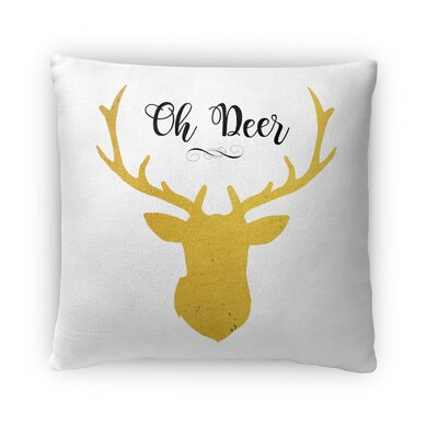Oh Deer Fleece Throw Pillow Size: 16 H x 16 W x 4 D