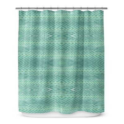 Palms Shower Curtain Color: Green