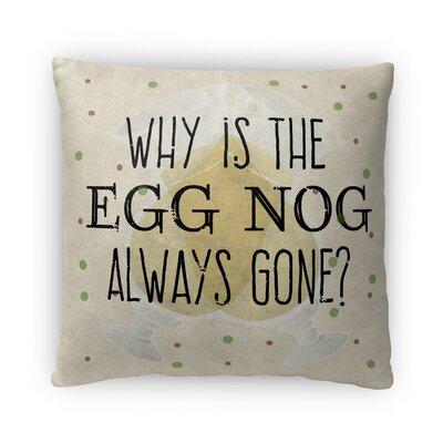Egg Nog Fleece Throw Pillow