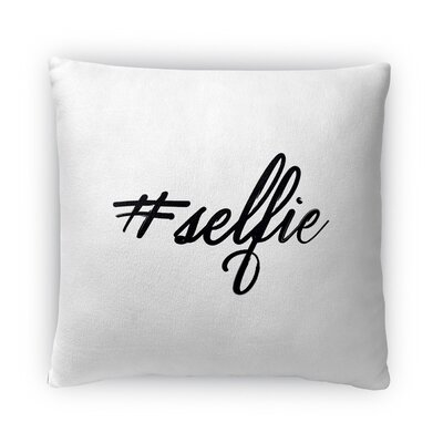 Selfie Fleece Throw Pillow Size: 18 H X 18 W X 4 D