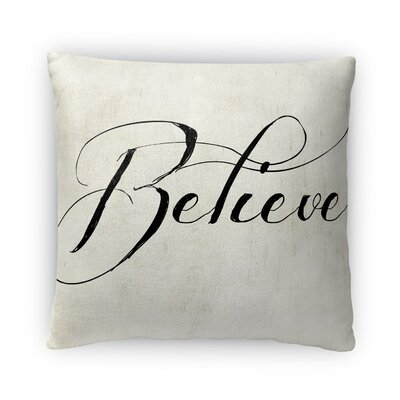 Believe Fleece Throw Pillow