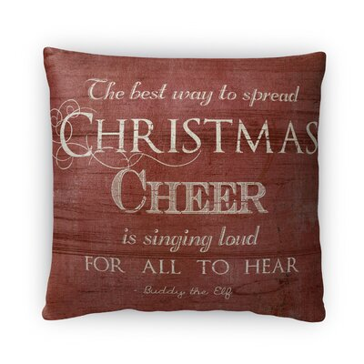 Christmas Cheer Fleece Throw Pillow
