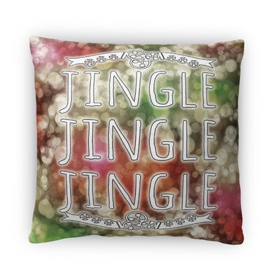 Jingle Jingle Jingle Fleece Throw Pillow